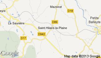 Plan de Saint-Hilaire-la-Plaine