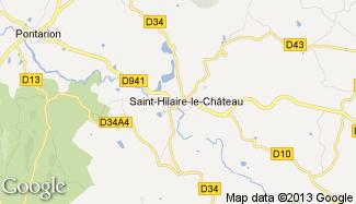 Plan de Saint-Hilaire-le-Château