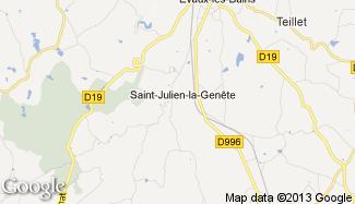 Plan de Saint-Julien-la-Genête
