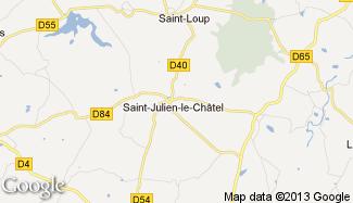 Plan de Saint-Julien-le-Châtel