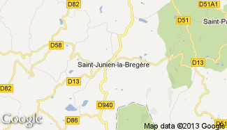 Plan de Saint-Junien-la-Bregère
