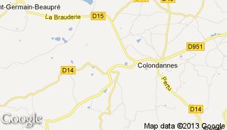 Plan de Saint-Léger-Bridereix