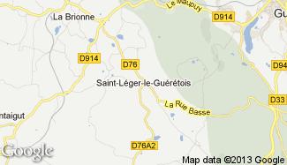 Plan de Saint-Léger-le-Guérétois