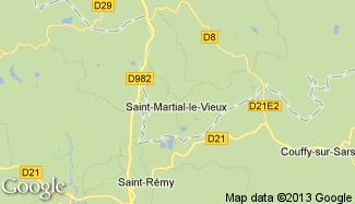 Plan de Saint-Martial-le-Vieux