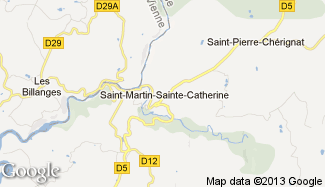 Plan de Saint-Martin-Sainte-Catherine