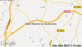 Plan de Saint-Maurice-la-Souterraine
