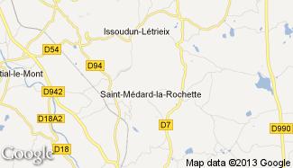 Plan de Saint-Médard-la-Rochette