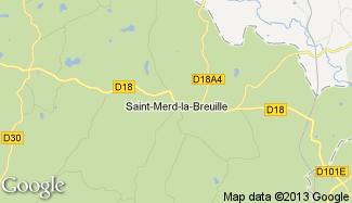 Plan de Saint-Merd-la-Breuille