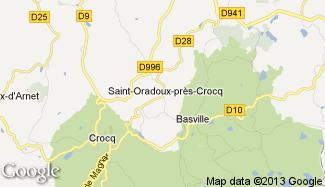 Plan de Saint-Oradoux-près-Crocq