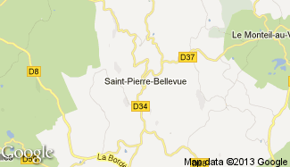 Plan de Saint-Pierre-Bellevue