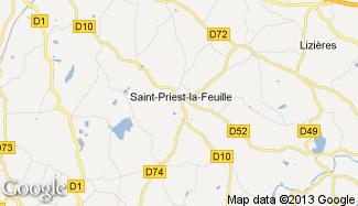 Plan de Saint-Priest-la-Feuille