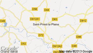 Plan de Saint-Priest-la-Plaine