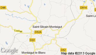 Plan de Saint-Silvain-Montaigut