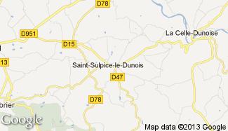 Plan de Saint-Sulpice-le-Dunois