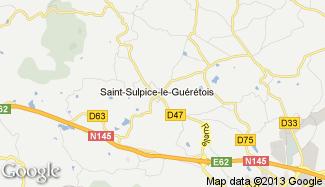 Plan de Saint-Sulpice-le-Guérétois