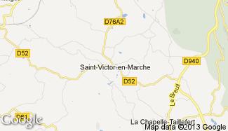 Plan de Saint-Victor-en-Marche