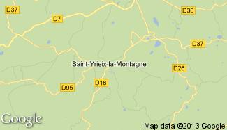 Plan de Saint-Yrieix-la-Montagne
