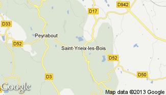 Plan de Saint-Yrieix-les-Bois