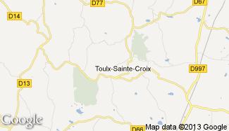 Plan de Toulx-Sainte-Croix