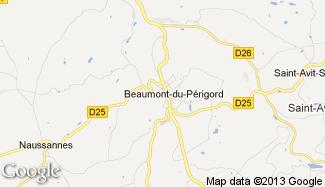 Plan de Beaumont-du-Périgord
