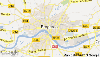 Plan de Bergerac