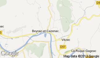 Plan de Beynac-et-Cazenac