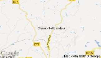 Plan de Clermont-d'Excideuil