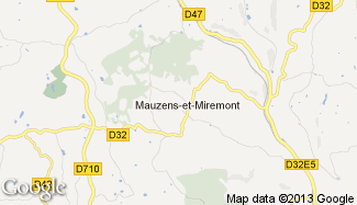 Plan de Mauzens-et-Miremont