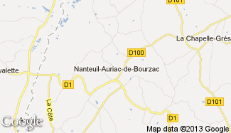 Plan de Nanteuil-Auriac-de-Bourzac
