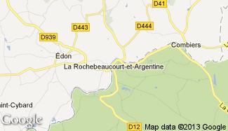 Plan de La Rochebeaucourt-et-Argentine