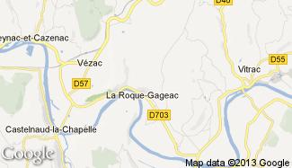 Plan de La Roque-Gageac