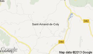 Plan de Saint-Amand-de-Coly