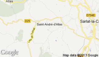 Plan de Saint-André-d'Allas