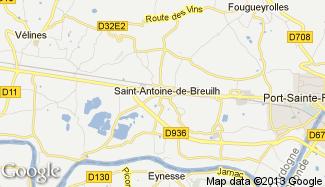 Plan de Saint-Antoine-de-Breuilh