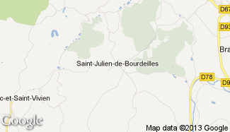 Plan de Saint-Julien-de-Bourdeilles