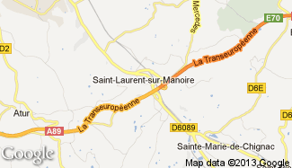 Plan de Saint-Laurent-sur-Manoire