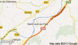 Plan de Saint-Léon-sur-l'Isle
