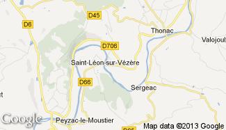 Plan de Saint-Léon-sur-Vézère