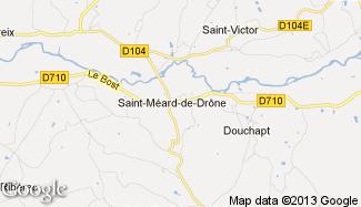 Plan de Saint-Méard-de-Drône