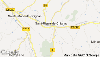 Plan de Saint-Pierre-de-Chignac