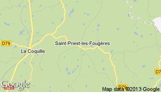 Plan de Saint-Priest-les-Fougères