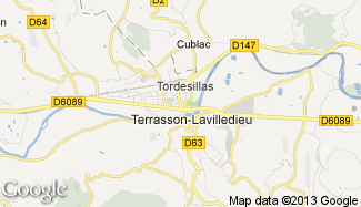 Plan de Terrasson-Lavilledieu