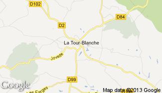 Plan de La Tour-Blanche