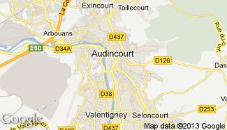 Plan de Audincourt