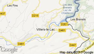 Plan de Villers-le-Lac