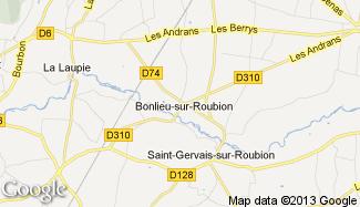 Plan de Bonlieu-sur-Roubion