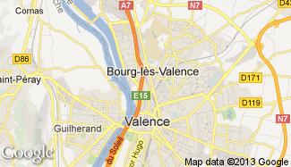 Plan de Bourg-lès-Valence