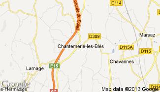 Plan de Chantemerle-les-Blés