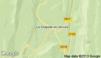 Plan de La Chapelle-en-Vercors
