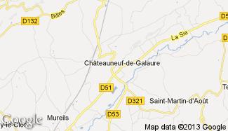 Plan de Châteauneuf-de-Galaure